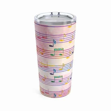 Music Note Coffee Mug - Tumbler 20oz