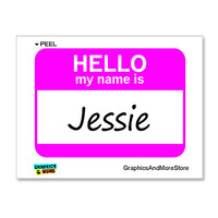 Jessie Is Hello My Name Is Sticker