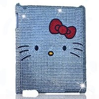 HOT! Hello Kitty Crystal & Rhinestone Ipad 2/3/4 Case/cover in Clear