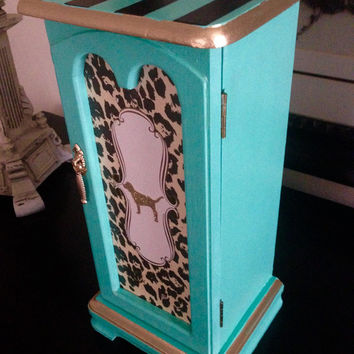 Victoria's Secret Pink Inspired hand Painted Vintage Jewelry Box