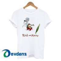 Rick and Morty Calvin and Hobbes T-shirt men, women adult unisex
