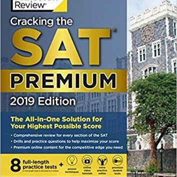 Cracking the SAT Premium Edition with 8 Practice Tests, 2019: The All-in-One Solution