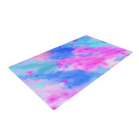 "Ebi Emporium ""Seeing Stars II"" Blue Pink Woven Area Rug"