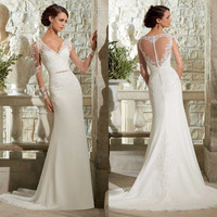2015 New White/ivory Wedding dress Bridal Gown custom = 1932435652