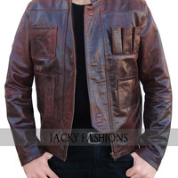 New Harrison Ford Han Solo Star Wars Awakens Jacket - Available All Sizes