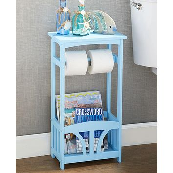 Unique Bathroom Storage Display Table Stand Organizer & Toilet Paper Holder