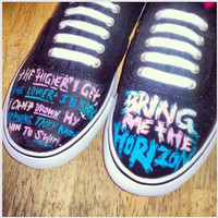 Bring Me The Horizon Custom Canvas Shoes by BombAssKicks on Etsy