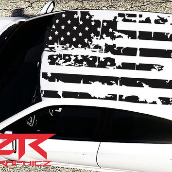 2015-2017 Dodge Charger American USA Flag Roof Decal
