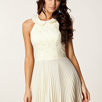 Pleated Lace Collar Dress, Elise Ryan