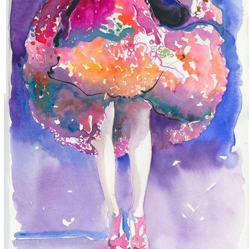 Watercolour Fashion Illustration Print  by silverridgestudio