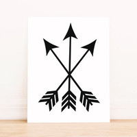 Arrows Black Print PRINTABLE ART Dorm Decor Apartment Art Bathroom Art