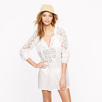 Embroidered rope tunic - beach cover-ups - Women's swim - J.Crew