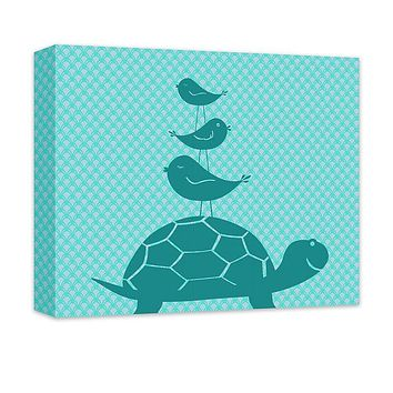 Turtle and Birds Canvas Wall Art and Print Wall Art