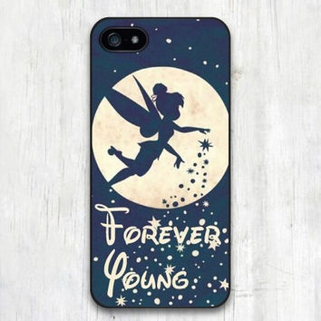 Classic Forever Young Tinkerbell Protective Case Cover for iphone 4 4s 5 5s 5c 6 6s 6 plus 6s plus TQI