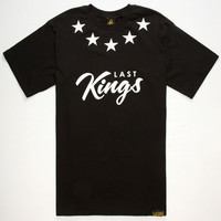 Last Kings Stars Mens T-Shirt Black  In Sizes
