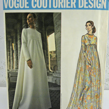 Vintage Vogue Couturier sewing Pattern by Fabiani 2537 long evening dress  Uncut 1970s