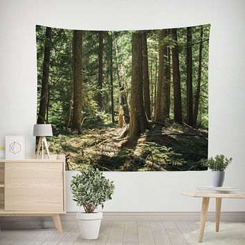 Ancient Cedar Forest Wall Tapestry
