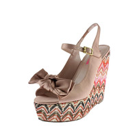 Betsey Johnson Womens Wenndy Satin Bow Wedges