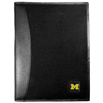 Michigan Wolverines Leather and Canvas Padfolio CPAD36
