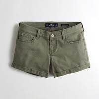 Girls Low-Rise Twill Midi Shorts | Girls Bottoms | HollisterCo.com