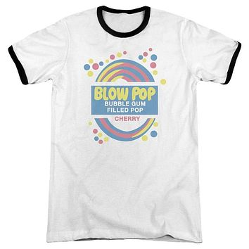 Mens Blow Pop Label Retro Ringer T-Shirt