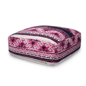 Boho Aztec Pink Purple Floor Pillow Pouf