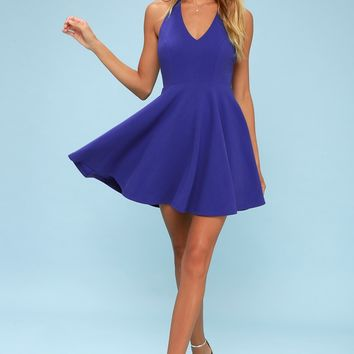 Lawson Royal Blue Skater Dress