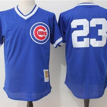 ONETOW Mitchell & Ness Ryne Sandberg Chicago Cubs Cooperstown Authentic Collection Throwback Replica Jersey - Royal Blue