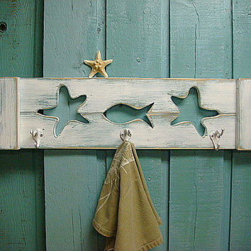Hook Coat Rack Beach House Decor Choose Your Cutouts