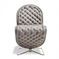 Verpan Leather Deluxe 123 Chair