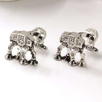 Star Wars 7 AT-AT All Terrain Armored Transport Shirt Cuff Links Vintage Gothic Brand Cuff Buttons Metal Cufflinks For Mens Gift