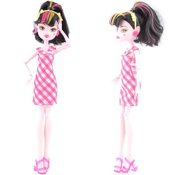 NK One Set  New Arrival Handmade Cortical Clothes & Sportswear Fashion Dress For Monster High Doll  For  BJD Dolls Best Gift 06A