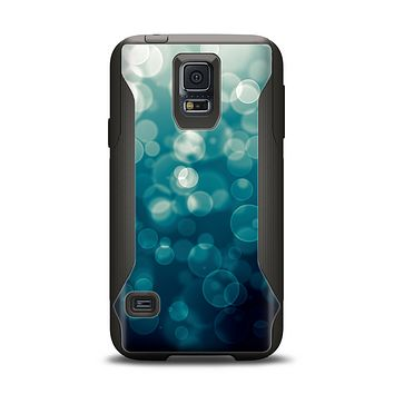 The Green Unfocused Orbs Of Light Samsung Galaxy S5 Otterbox Commuter Case Skin Set