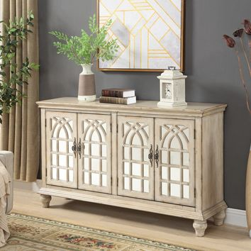 French Cream Cathedral Credenza