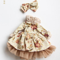 SK Couture Floral Skirt Set for Blythe Pullip Dal Azone Licca
