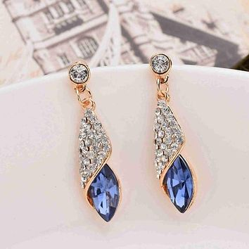 Police Gem Drop Earrings