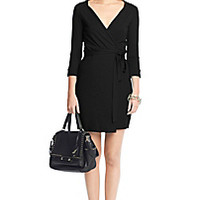 DVF New Julian Two Mini Jersey Wrap Dress