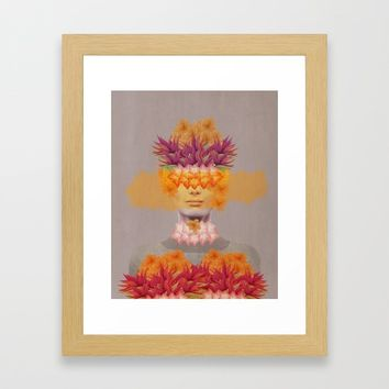 Woman in flowers IV Framed Art Print by vivianagonzlez