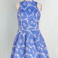 Vintage Inspired Mid-length Sleeveless Fit & Flare I Want You to Flaunt Me Dress