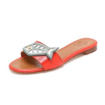 Tory Burch Fish Flat Slides
