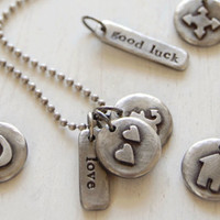 Pewter Charm Necklace