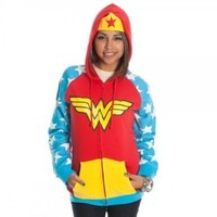 DC Comics Wonder Woman Juniors Red Hoody (Small)