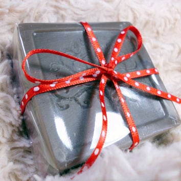 Chocolate Peppermint scented, Handmade Shea Butter Soap, 4 oz