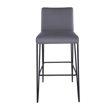 Amir Bar Stool in Dark Gray and Black