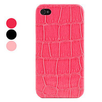 [USD $ 2.49]  - Protective Hard Back Case with Crocodile PU Leather Skin for iPhone 4 and 4S (Assorted Colors)