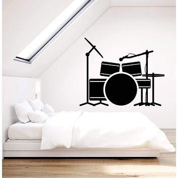 Vinyl Wall Decal Drum Installation Drummer Musician Music Band Stickers (2487ig)