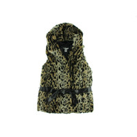 WDNY Womens Faux Fur Hooded Outerwear Vest