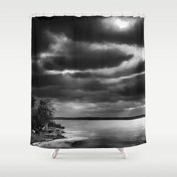 Harsh morning Shower Curtain by HappyMelvin