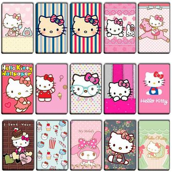 7 pcs/lot Lovely Hello Kitty Anime Stickers Toys girl Cool DIY Cute cat Movie poster Souvenir Card Stickers Kid Gift Classic Toy