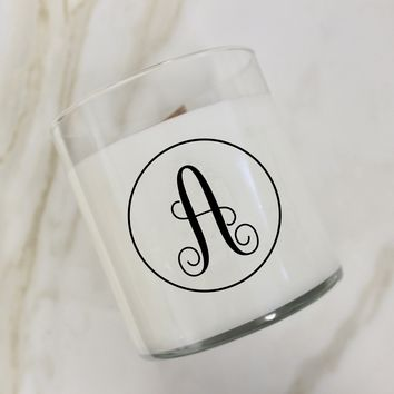 Initial A Candle
